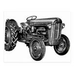 Tractor del vintage postal
