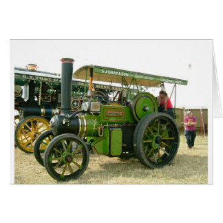 tractor del vintage tarjeta de felicitación