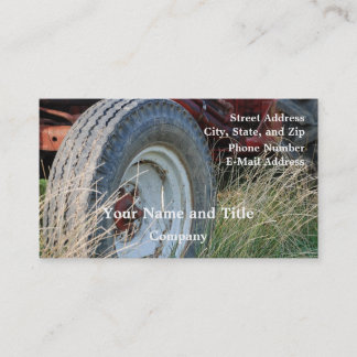 tractor details business card