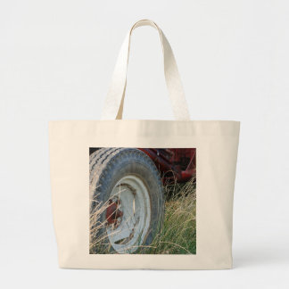 tractor details large tote bag