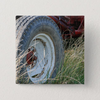 tractor details pinback button