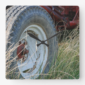 tractor details square wall clock