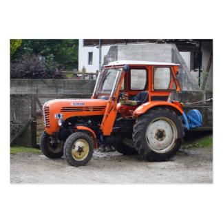 Tractor diesel anaranjado Steyr kilolitro II Tarjetas De Visita Grandes