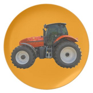 tractor dinner plates