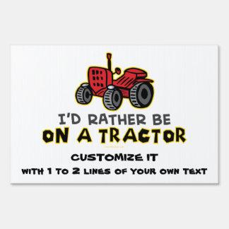 Tractor divertido letreros
