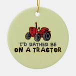 Tractor divertido ornamentos de reyes magos