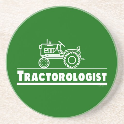 Tractor divertido posavasos diseño