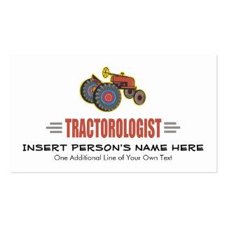 Tractor divertido tarjeta personal