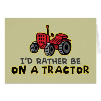 Tractor divertido tarjeta de felicitación