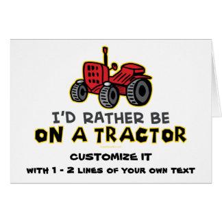 Tractor divertido tarjeta pequeña