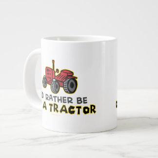 Tractor divertido taza grande