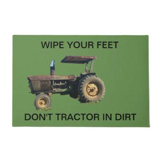 Tractor door mat