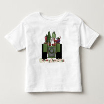 Tractor Driving Santa Boys toddler t-shirt