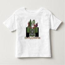 Tractor Driving Santa Boys toddler t-shirt