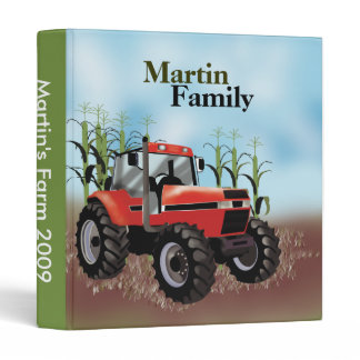 Tractor Farm Farming Country Family 3 Ring Binder