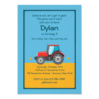 Tractor Farm Invitation