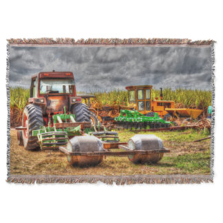 TRACTOR & FARM MACHINERY QUEENSLAND AUSTRALIA THROW BLANKET