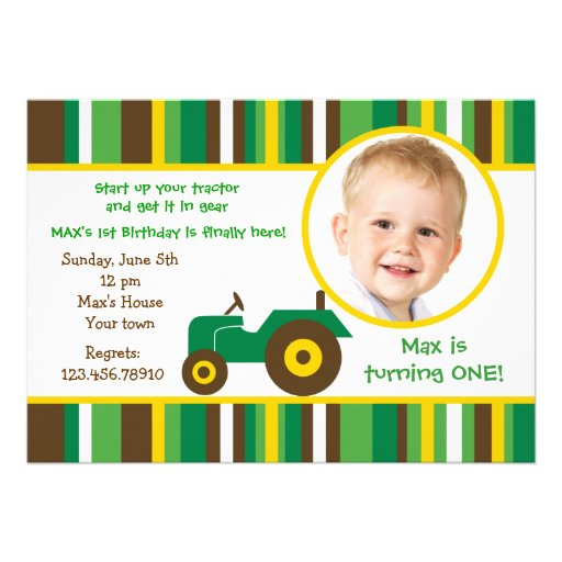 John Deere Tractor Invitations with nice invitations template