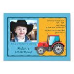 Tractor Farm Vehicle Photo Invitation