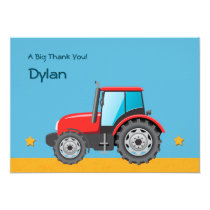 Tractor Farm Vehicle Thank You Card