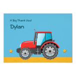 "Tractor Farm Vehicle Thank You 5"" X 7"" Invitation Card"