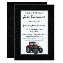 Tractor Farming  Birthday Party Men's Invitation