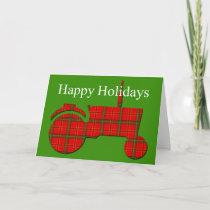 Tractor Farming Christmas Card