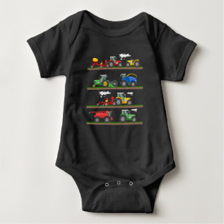 Tractor farming combine harvester  agriculture baby bodysuit