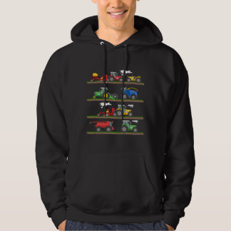 Tractor farming combine harvester  agriculture hoodie