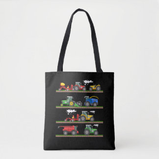Tractor farming combine harvester  agriculture tote bag