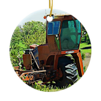 Tractor Farming Midwest Photo Christmas Ceramic Ornament