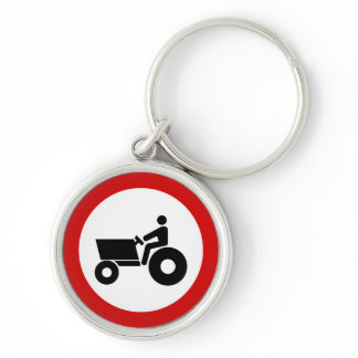 Tractor Farming Sign Keychain
