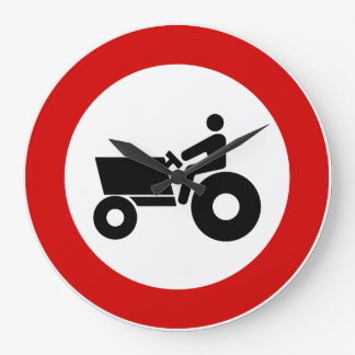Tractor Farming Sign Large Clock