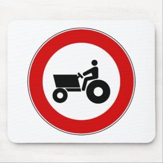 Tractor Farming Sign Mouse Pad