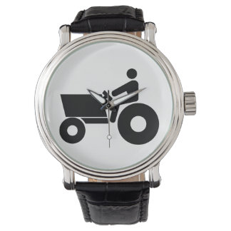 Tractor Farming Sign Wrist Watch