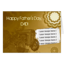 Tractor Father's Day Card: Add your photo Card