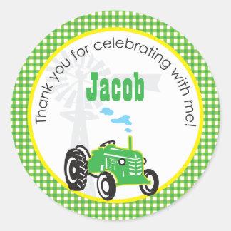 Tractor Favor Sticker