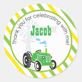 Tractor  |  Favor Sticker
