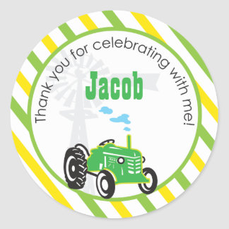 Tractor  |  Favor Sticker