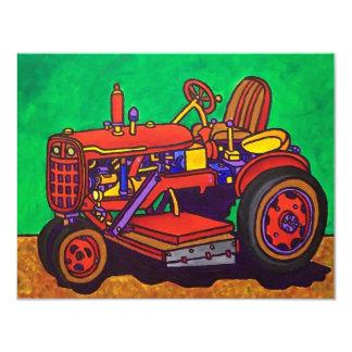 Tractor feliz por Piliero Invitación 10,8 X 13,9 Cm