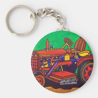 Tractor feliz por Piliero Llaveros Personalizados