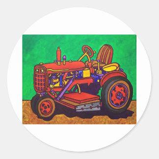 Tractor feliz por Piliero Pegatina Redonda