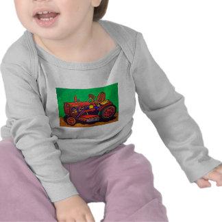 Tractor feliz por Piliero Camisetas