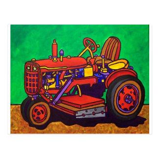 Tractor feliz por Piliero Tarjeta Postal