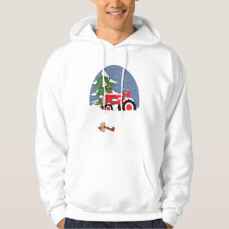 Tractor for Christmas Hoodie