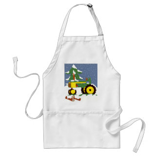 Tractor for Winter Adult Apron