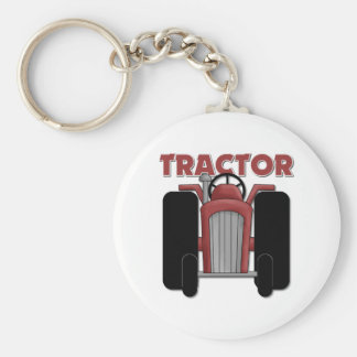 Tractor Gift For Kids Basic Round Button Keychain