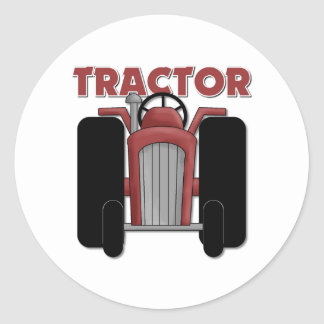 Tractor Gift For Kids Classic Round Sticker