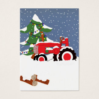 Tractor Gift Tag Profile Card
