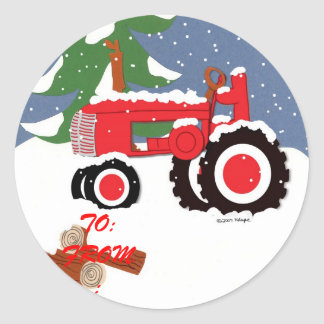 Tractor Gift Tag sticker